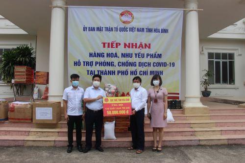 Cục Thuế Hòa Bình ủng công tác phòng, chống dịch tại TP. Hồ Chí Minh
