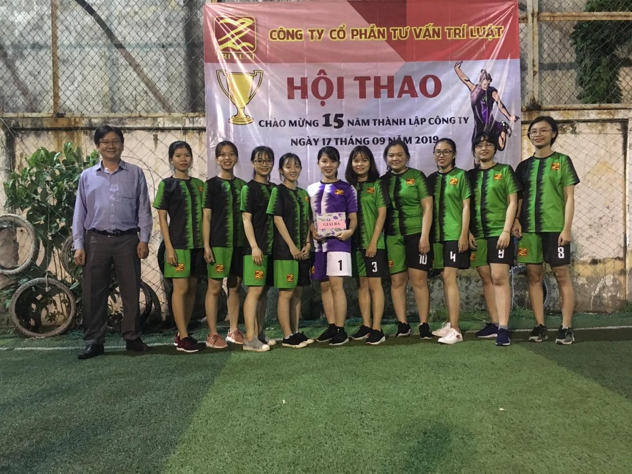 Kết quả thi đấu  chung kết giải bóng đá nữ cup Trí Luật mùa 4/ 2019